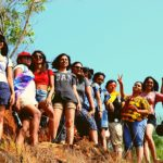 Trekkers posing for a pic on Gokarna beach trek