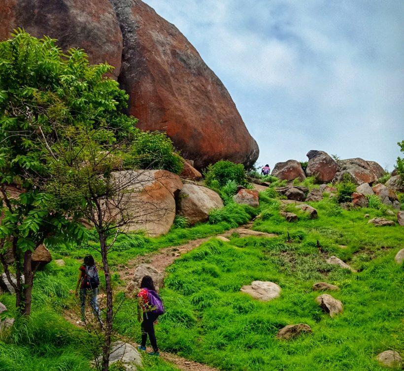 Trekkers at Hutridurga